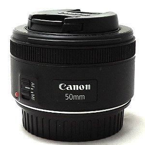 Lente Canon EF 50mm f/1.8 AF STM Seminova