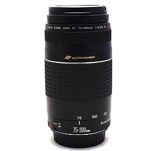 Lente Canon EF 75-300mm f/4-5.6 III USM AF Ultrasonic Usada