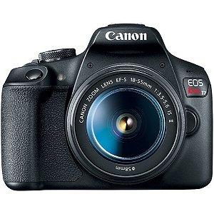 Câmera Canon EOS Rebel T7 com Lente 18-55mm IS II Seminova