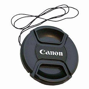Tampa Frontal para Lente Canon 55mm