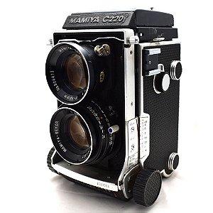 Câmera Analógica Mamiya C220 com Lente Sekor 80mm 2.8 Usada