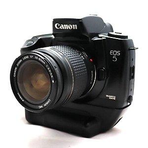 Câmera Analógica Canon EOS 5 com Lente 28-80mm e Grip Usada
