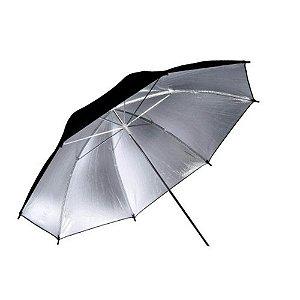 Sombrinha Refletora Greika BW-36 91cm Preta Prata