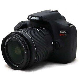 Câmera Canon EOS Rebel T6 com Lente 18-55mm Seminova