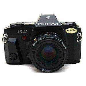 Câmera Analógica Pentax P50 com Lente 50mm f/1.7 Usada
