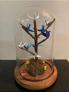 Cúpula com árvore da paz e 10 mini tsurus
