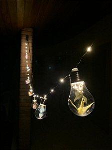 Cordão de led com 10 lâmpadas.