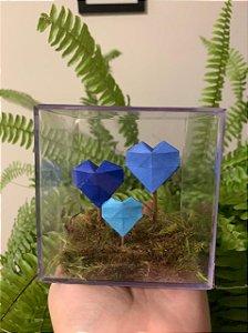 Amor ao cubo com 3 corações