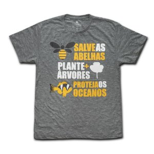 Camiseta Ecológica Salve as Abelhas
