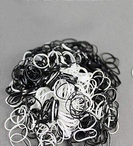 Elástico de Silicone - Preto e Branco