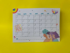 Planner mensal de mesa - 2 anos