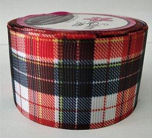 Fita de Gorgurão Xadrez Escocês 6494