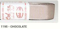 Fita de Gorgurão Lisa 1195 Chocolate