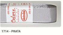 Fita de Gorgurão Lisa 1714 Prata