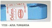 Fita de Gorgurão Lisa 1723 Azul Turquesa