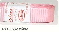 Fita de Gorgurão Lisa 1773 Rosa Médio