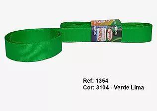 Fita de Gorgurão Lisa 3104 Verde Vivo
