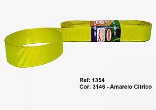 Fita de Gorgurão Lisa 3146 Amarelo Cítrico