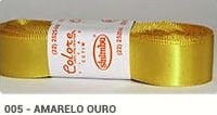 Fita de Cetim Lisa 005 Amarelo Ouro