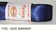 Fita de Cetim Lisa 1722 Azul Marinho