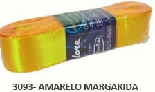 Fita de Cetim Lisa 3093 Amarelo Margarida