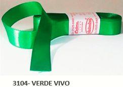 Fita de Cetim Lisa 3104 Verde Vivo