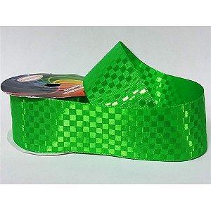 Fita Cetim Quadriculada Sinimbu n°9 (38mm) - 3104 Verde Vivo