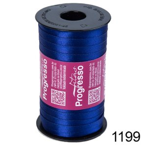 Fita de Cetim Lisa n°1 Azul Bic 1199