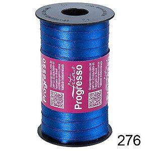 Fita de Cetim Lisa n°1 Azul Pavão 276