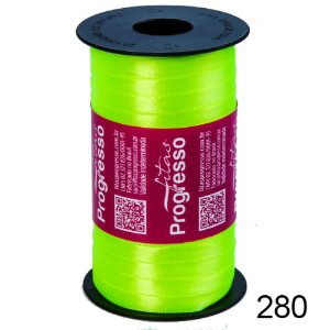 Fita de Cetim Lisa n°1 Verde Fluorescente 280