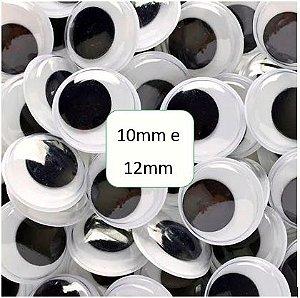 Olhinhos Móveis para Artesanato 10/12mm - Pacote com 100 unidades