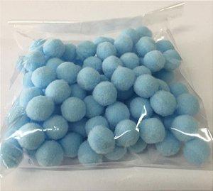 Pompom n°1 (10mm) Pacote com 100 unidades - Azul Bebê