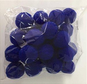 Pompom n°2 (20mm) Pacote com 25 unidades - Azul Royal