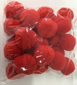 Pompom n°2 (20mm) Pacote com 25 unidades - Vermelho