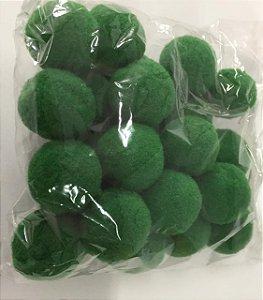 Pompom n°2 (20mm) Pacote com 25 unidades - Verde Bandeira