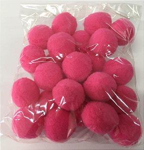Pompom n°2 (20mm) Pacote com 25 unidades - Pink
