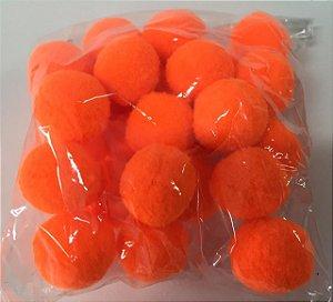 Pompom n°2 (20mm) Pacote com 25 unidades - Laranja Fluorescente