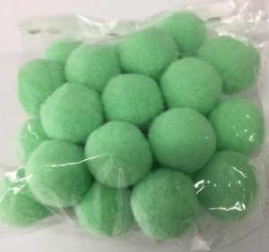 Pompom n°2 (20mm) Pacote com 25 unidades - Verde Água