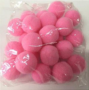 Pompom n°2 (20mm) Pacote com 25 unidades - Rosa