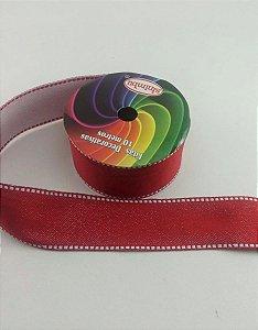 Fita Pesponto com Glitter SINIMBU - C02 Vermelho