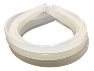 Tiara de Silicone 1cm c/6 unidades