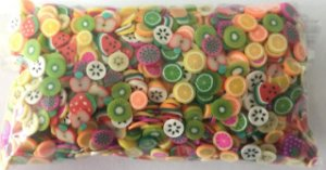 Aplique Mini Frutinhas - Pacote c/ 10 gramas