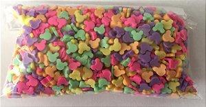 Aplique Mini Mickey Colorido - Pacote c/ 10 gramas