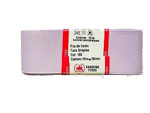 Fita de Gorgurão Sanding n°9(38mm) 10metros - Cor 192 Lilás
