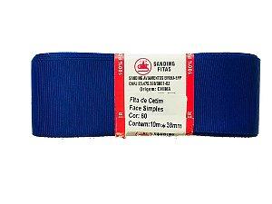 Fita de Gorgurão Sanding n°9(38mm) 10metros - Cor 60 Azul Royal