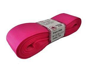 Fita de Gorgurão Sanding n°9(38mm) 10metros - Cor 249 Rosa Fluorescente