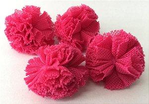 Pompom de Malha Tecido (2cm) c/10 un - Pink