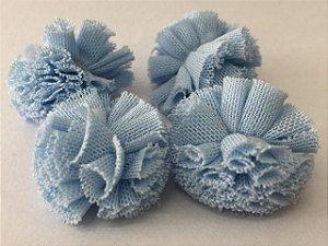 Pompom de Malha Tecido (2cm) c/10 un - Azul Bebê