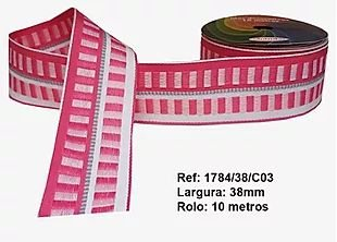 Fita Decorativa Retangular (38mm) - C03 Tons Rosa