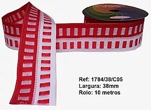 Fita Decorativa Retangular (38mm) - C05 Tons Vermelho